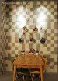 De beige RubberTegel van de Rand van het Zwembad van het Document van de Tegel van de Vloer van 6X6inch/15X15cm