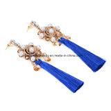 Joyería Shaped de la aleación de la cuerda de rosca de la borla de las flores largas populares europeas y americanas de los pendientes
