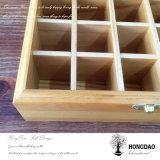 Hongdao Precio de Fábrica Natural Diseño de muestra de color Caja de regalo de madera con logotipo grabado _E