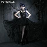 Punk Rave Atacado Gothic Elegant Party Evening Dress (Q-174)