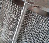 Tissu tissé de l'espace de fil serti parTamis en acier résistant d'abrasion à haut carbone