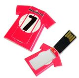 Plastikt-shirt Visitenkarte kundenspezifisches USB-Laufwerk (D-011)