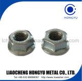 Les écrous hexagonaux de zinc en acier de la norme DIN934