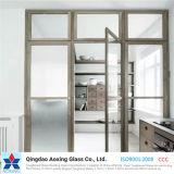 Strato/vetro temperato/Tempered del piano per costruzione/mensola con il bordo/foro