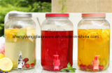 De Kruik van het Sap van de Automaat van de Drank van het glas met Plastic Spon