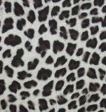 Leopard Imprimir PU para calçados de couro/roupas