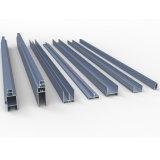 Profil en aluminium de construction de guichet en aluminium de la section 6063 T5