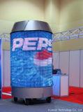 라이브 쇼를 위한 Flc P18 영상 실행 유연한 LED 스크린