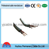 Cable de transmisión plano aislado PVC superventas de BVVB+E para los edificios