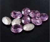 最もよい水晶Pointbackのラインストーンのラインストーンの水晶石造りのガラスダイヤモンドの石の工場(TP楕円形13*18)