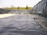 0.75mm 매끄러운 물고기와 새우 농장 연못 강선 HDPE Geomembrane