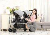 2017 preiswerter Baby-Kinderwagen-heißer Verkaufs-Zwilling-Spaziergänger/doppelter Spaziergänger