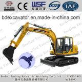 Excavatrices hydrauliques chenille jaune lourde de matériel de machine de construction de petite