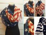 Оптовая продажа шарфа способа безграничности весны изготовленный на заказ печати американского флага Multi-Color