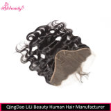 Frontals brasiliani del merletto dell'onda 13X4 del corpo dei capelli umani di Remy