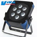 Le Super 7*10W 4 en 1 plat LED RGBW stade par la lumière (QC-LP048c)