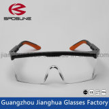 Lunetterie antipoussière drôle claire de vente chaude de sécurité dans la construction de lunettes de sûreté d'impression de peinture de la CE En166 de verres de sûreté de laboratoire de couleur