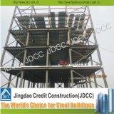 Estructura de acero del edificio de varios pisos