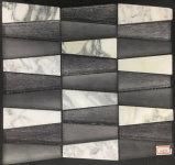 Mattonelle irregolari del marmo della pietra del marmo di arte per la decorazione della parte esterna o della parete