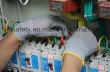 Черная Nylon перчатка работы с черным PU (PN8119)