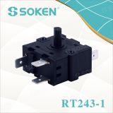 히이터 (RT243-1)를 위한 5개의 위치 로터리 스위치