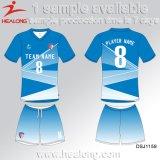 Healong Qualitäts-Sportkleidung kundenspezifisches Sublimation-Drucken-Badminton Jersey