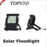 Luz de acampamento solar ao ar livre da luz de inundação do diodo emissor de luz com painel solar