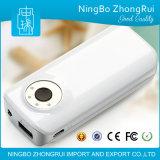 Batería móvil elegante de encargo de reserva externa de la potencia del cargador de batería del USB 5600 con el LED