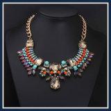 De nieuwe Vastgestelde Halsband van de Juwelen van de Manier van de Hars van het Punt Kleurrijke Acryl