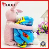 Coperta molle animale del bambino del giocattolo della peluche del coniglio dentellare sveglio dei bambini