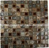 Tuile rousse brûlée par collection romaine en verre 1x1