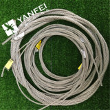 7X19ステンレス製の鋼線ロープ304/316本(DIN、BS、ミル)