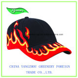 Chapeau neuf de sport de base-ball de broderie de flamme d'hurlement de mode