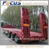 De Prijs van de fabriek voor 50t - 60t de Lage Semi Aanhangwagen van de Vrachtwagen van het Bed