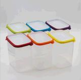 1つの食糧容器のEnvironmentlyの食品等級プラスチック新し保存ボックス冷却装置マルチ容量に付き3つは自由な台所BPAのためのスペースを節約する