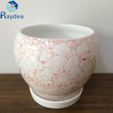Белый керамический бак для домашнего украшения и украшения сада