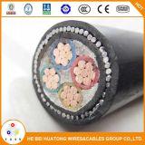 PVC do núcleo 0.6/1kv 4 ou cabo subterrâneo isolado XLPE da energia eléctrica do cobre blindado