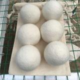 ウールのドライヤーの球、自然なファブリック軟化剤、洗浄球