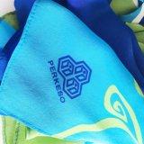 107X017cm conçoivent l'écharpe en fonction du client de 100%Silk Credpe pour la femme (SC001)