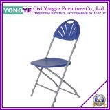 Aço para trás do ventilador/plástico cadeira dobrável de casamento