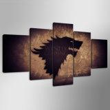 Juego de Tronos Stark cartel de lana Enmarcado Impresiones Lona Nueva - Galería de Arte Wrap Imprimir Inicio lona de la decoración Mc-157
