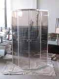 Baño de esquina completa de deslizamiento de vidrio redondo cubículo de ducha tamaño