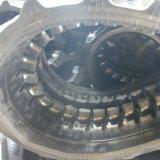 살쾡이 미끄럼 수송아지 로더 기계 사용을%s 고무 궤도 (B350*55Kx38)