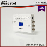 2016 nuovo ripetitore del segnale del cellulare di disegno 1000m2 WCDMA 2100MHz 3G con affissione a cristalli liquidi