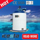 2000kg/jour refroidi par air Flake Machine à glaçons avec de la glace la trémie de stockage