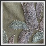 敏感な網の刺繍のレースの大きい葉の刺繍のレースのテュルの刺繍のレース