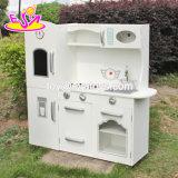 Cozinha de madeira engraçada Playset da criança dos produtos novos com refrigerador