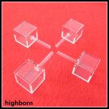 Cuvette en verre cubes personnalisé avec un tube en taille 20x20x20mm