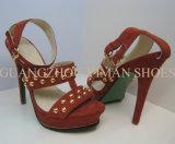 Chaussures de femme de cuir de haut talon (YMS002095-01)