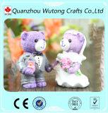 Mini regalos de la vuelta de la boda de la decoración del oso del peluche de la resina para los pares nuevamente casados